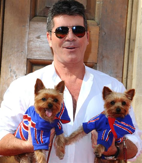 simon cowell dogs simon cowell dresses puppies in union at bgt press launch britain s got