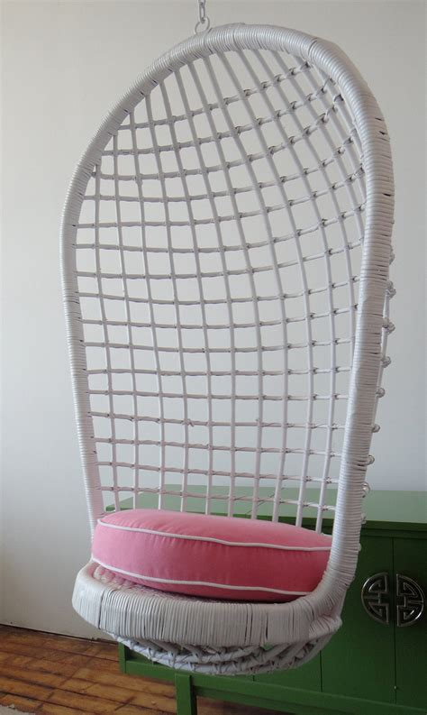Rattan Basket Chair Hanging Basket Chair Egg Chair Rattan Wicker Pink And White