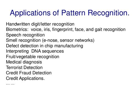 pattern of recognition definition pattern recognition and machine learning
