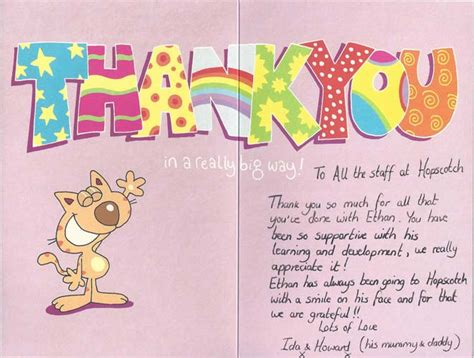 Thank You Note To Nursery From Parents Testimonials Reviews What Do Parents Say About Us