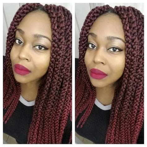 burgundy box braids 50 vivid burgundy hair color ideas for this fall hair