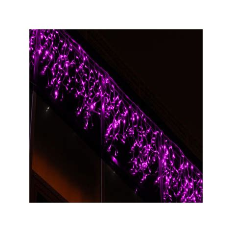 228 pink led outdoor icicle light connectable 3m x 1m
