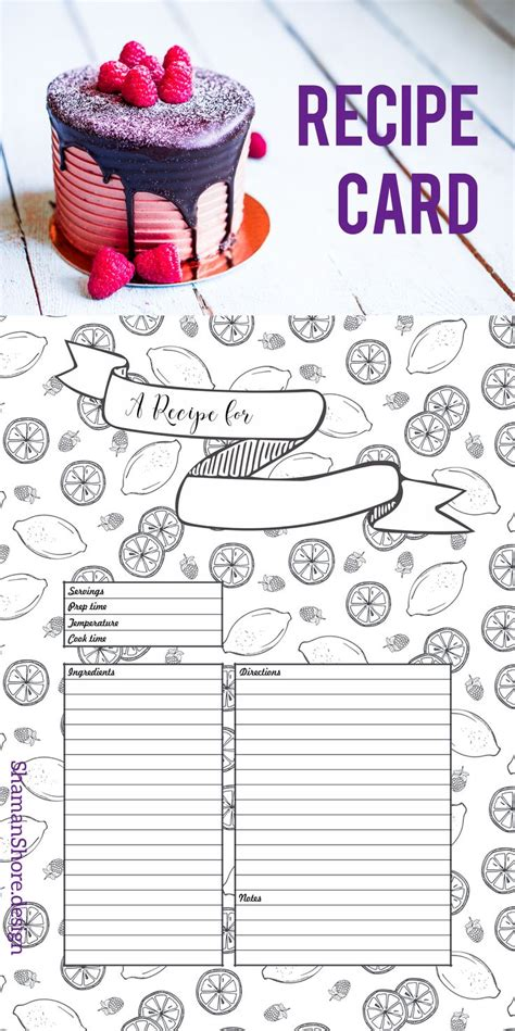 feistsa recipe card template a4 recipe card template recipe template 8 x 11