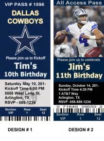 nfl football ticket style birthday invitations page 2 for hundreds of designs to choose