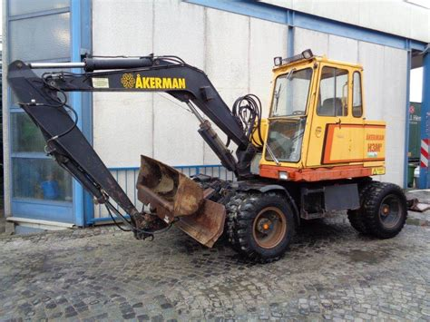 akerman hmb wheeled excavators year   sale mascus usa