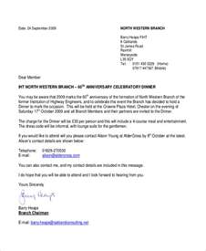 formal business dinner invitation letter sle 28 images