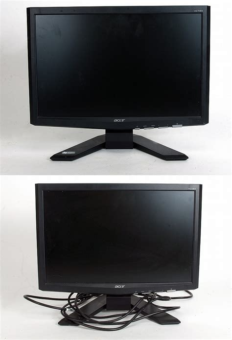 Monitor Lcd Acer Al1516w two acer lcd monitors x173w