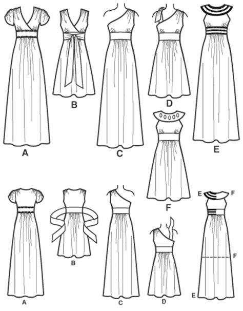 dress pattern draw mermaid dress simplicity 2692 lazy stitching