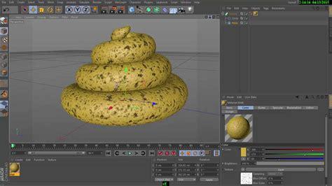 cinema 4d ice cream modeling tutorial with displacement cinema 4d tutorial modelling cute poop ice cream cone