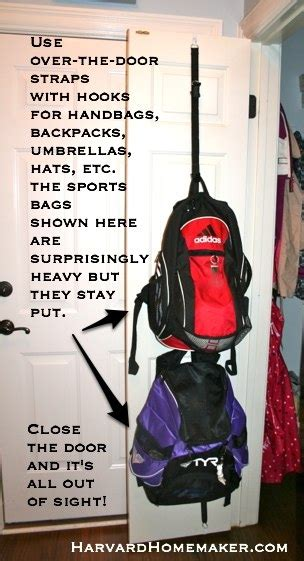 ideas for hanging backpacks 100 ideas to help organize your home and your life