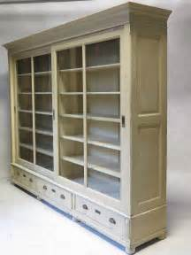 Bookcase With Sliding Doors Bookcase With Sliding Glass Doors Early 20th Century At 1stdibs