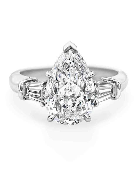 Harry Winston Engagement Ring by Pear Cut Engagement Rings Martha Stewart Weddings
