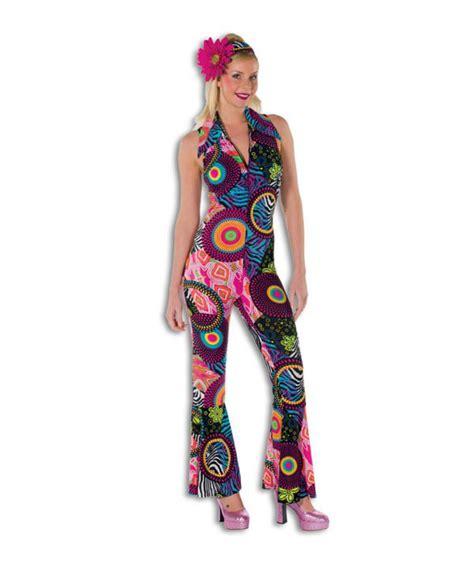 Gs Jumpsuit Flower schlager disco kost 252 m overall catsuit damenkost 252 m hippie