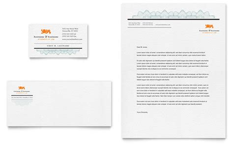 Firm Letterhead Design Attorney Business Card Letterhead Template Design
