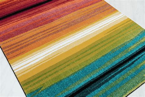 multi colored striped area rugs symphony multi color contemporary lines bars rows striped smp1008 area rug ebay