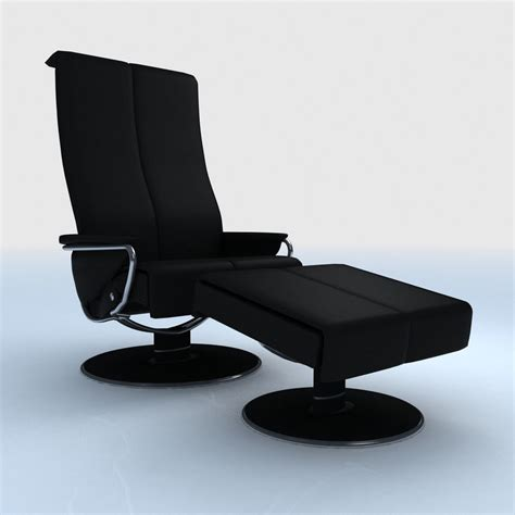 Stressless Blues Recliner by Ekornes 3d Models