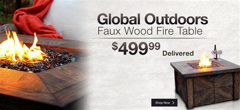 global outdoors faux wood table patio furniture