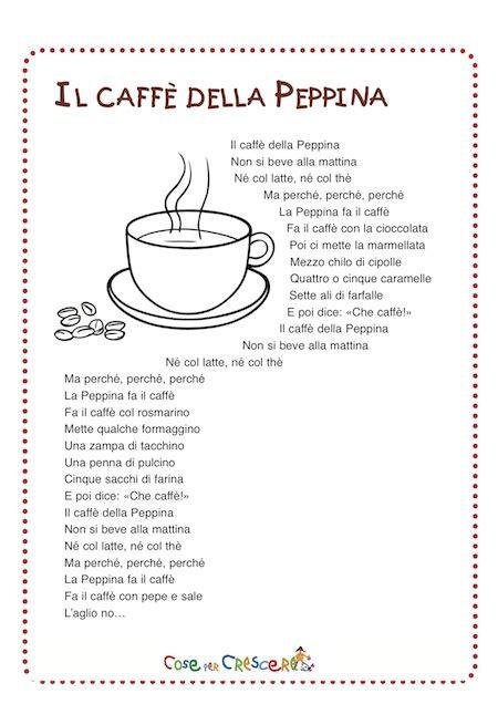 testo e della canzone per il caff 232 della peppina