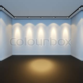 a 3d render illustration of empty white room with
