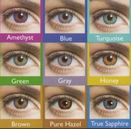 types of eye colors how to choose colored contact lens for diane s