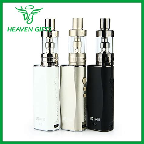 Authentic Gnomes Starter Kit Vaporizer Mod 100 authentic vaptio p1 p i vaporizer starter kit with built in 50w mod battery 2100mah