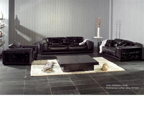 Armani Sofa Set by Dreamfurniture Ax001 Armani Modern Leather Sofa Set