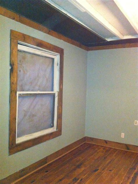 barn wood trimmed window barn tin  ceiling barn