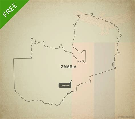 printable map of zambia free vector map of zambia outline one stop map