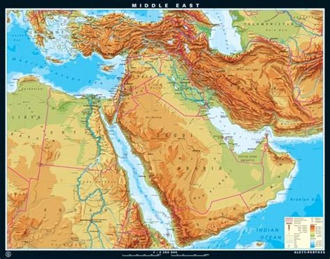 middle east map topographical 17 best images about pulldown classroom maps on