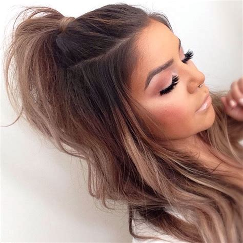 half up half down hairstyles tumblr pin baileygrant123 hair pinterest queens hair
