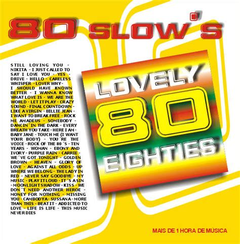 eighties house music 80 slows lovely eighties loja da musica
