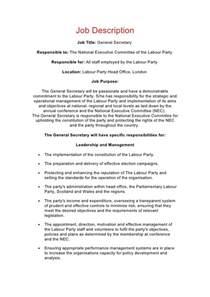 Secretaries Description by Description