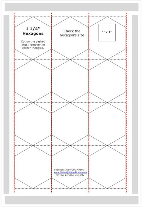 hexagon templates for paper piecing and easy way to cut hexagon templates for