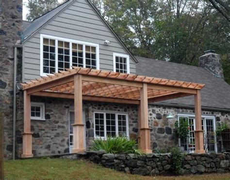 pergola attached to house a comfortable transition in home