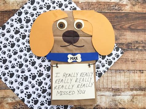 the secret life of pets craft dog house free printable max paper bag craft inspired by the secret life of pets