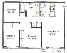 Three Bedroom Floor Plan by Basham Rentals 225 S River Rd3 Bedroom Floor Plans