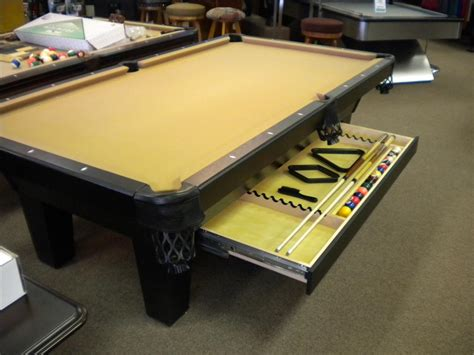 under pool table drawer floor model olhausen w drawer 1995 sold