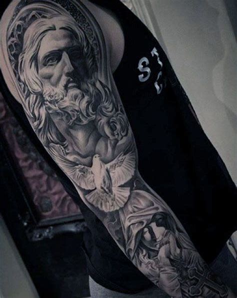 religious themed sleeve fantastic 50 jesus sleeve designs for religious ink