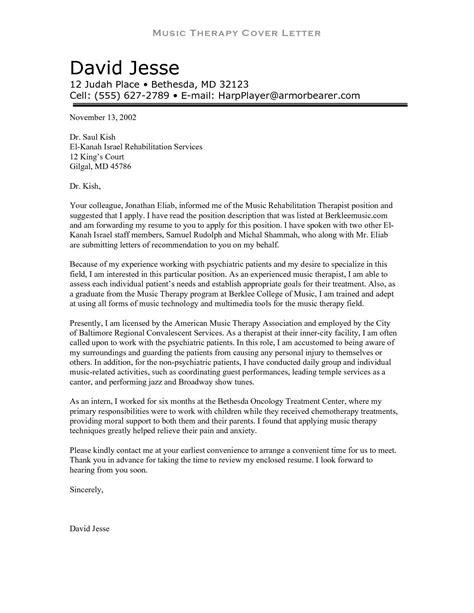 cover letter therapist job cover letter