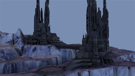 ice city ice world city 3d model obj cgtrader com