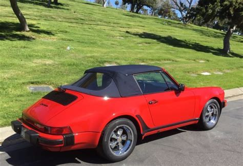 porsche 911 whale tail turbo 1987 porsche cabriolet turbo look w o whale tail for sale