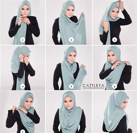 tutorial hijab pasmina simple tapi modis cara berhijab simple tapi modis cara berhijab pashmina