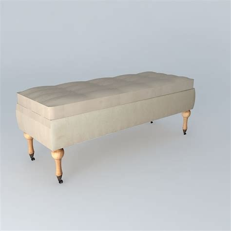 colette bench colette padded bench houses the world 3d model max obj