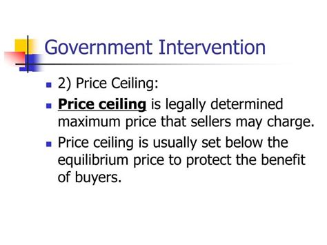 Government Intervention Price Ceiling by Ppt Applications Of Consumer And Producer Surplus Powerpoint Presentation Id 1191442