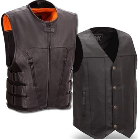 leather motorcycle vest s leather motorcycle vests