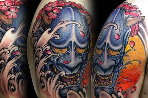 hannya mask tattoo shoulder 62 japanese hannya mask tattoos