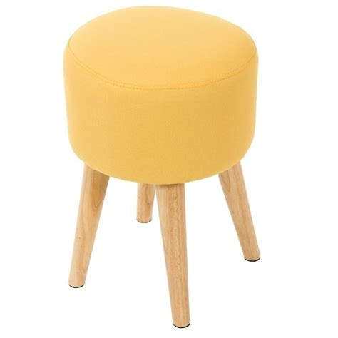 taburetes madera taburete de dise 241 o n 243 rdico amarillo redondo y madera vas