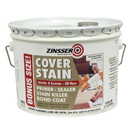 home depot paint with primer reviews zinsser 3 gal white based cover stain interior