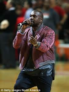 kanye west performs all day at chicago bulls game   daily