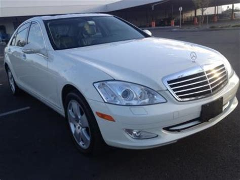 export used 2007 mercedes benz s550 4matic white on black